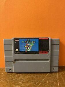 Super Mario World  SNES Super Nintendo Game Tested / Authentic