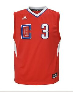 Red Adidas NBA Toddlers Los Angeles Clippers Chris Paul #3 Away Replica Jersey