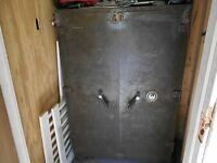 "LARGE COMMERCIAL TYPE MOSLER SAFE-39-1/2"" WIDE X 61"" HIGH-DOUBLE DOORS/COMBINATI"
