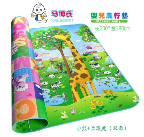 180cmX200cmX0.5cm Baby Care Play Mat Foam Floor Gym XPE Infant Crawling Mat