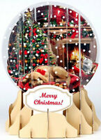 Holiday Room Snow Globe - Up With Paper Pop-up Christmas Card By Up With Paper