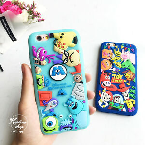 watch c740d d8dda Details about 3D Sulley MonstersToy Story rubber silicone soft case cover  for iphone 7 6S plus