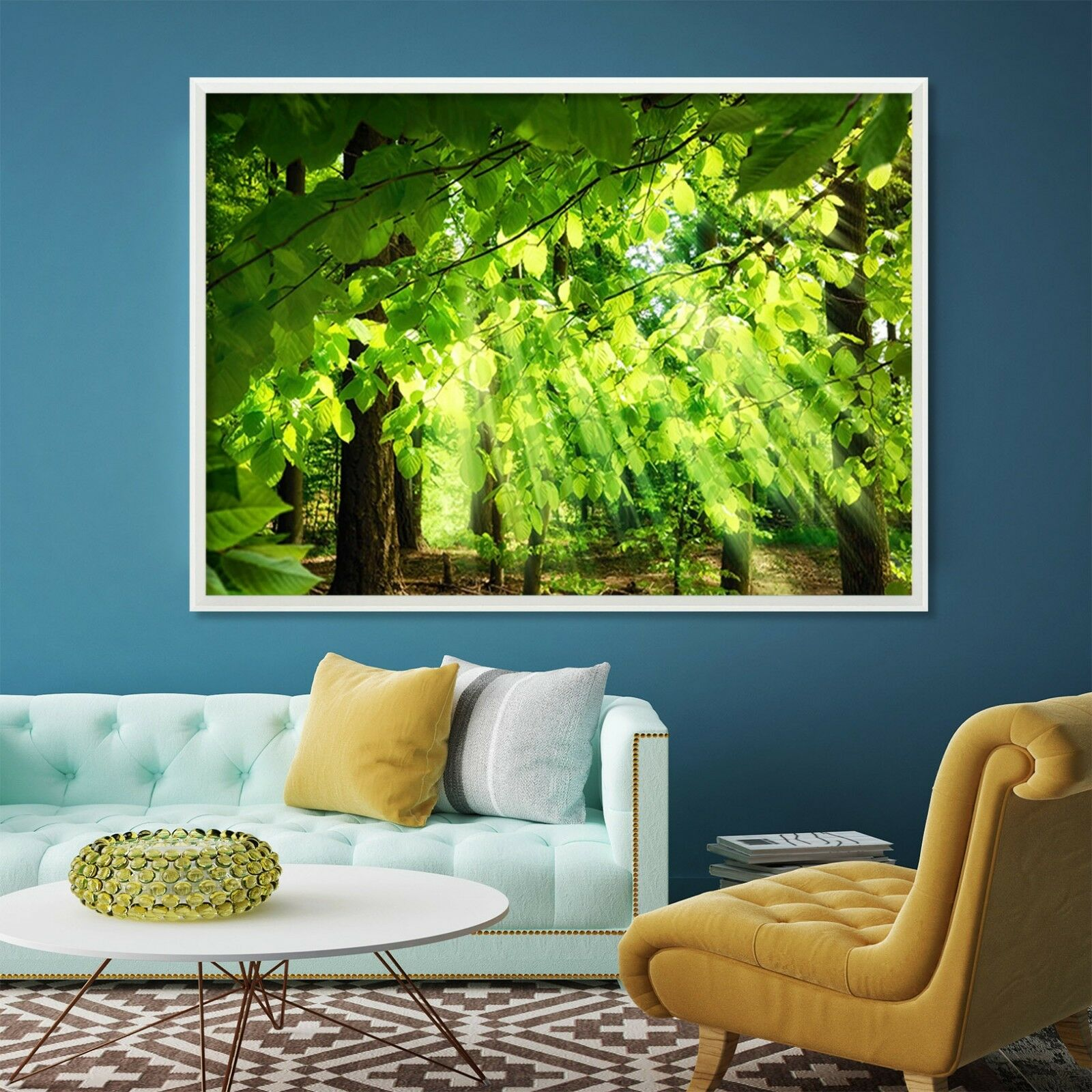 3D Green Leaves 6 Framed Poster Home Decor Print Painting Art AJ WALLPAPER