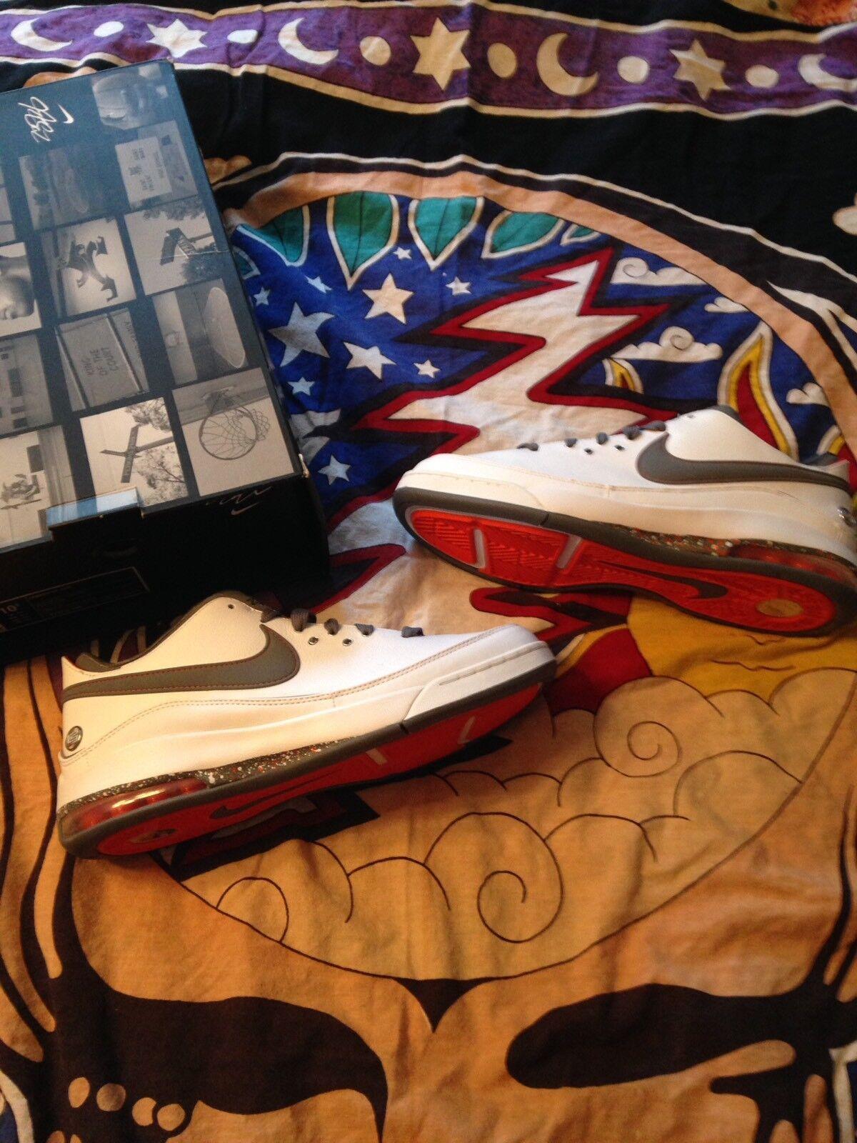 Nike Lebron 7 Low White Orange Cool Grey Men's Size 10.5