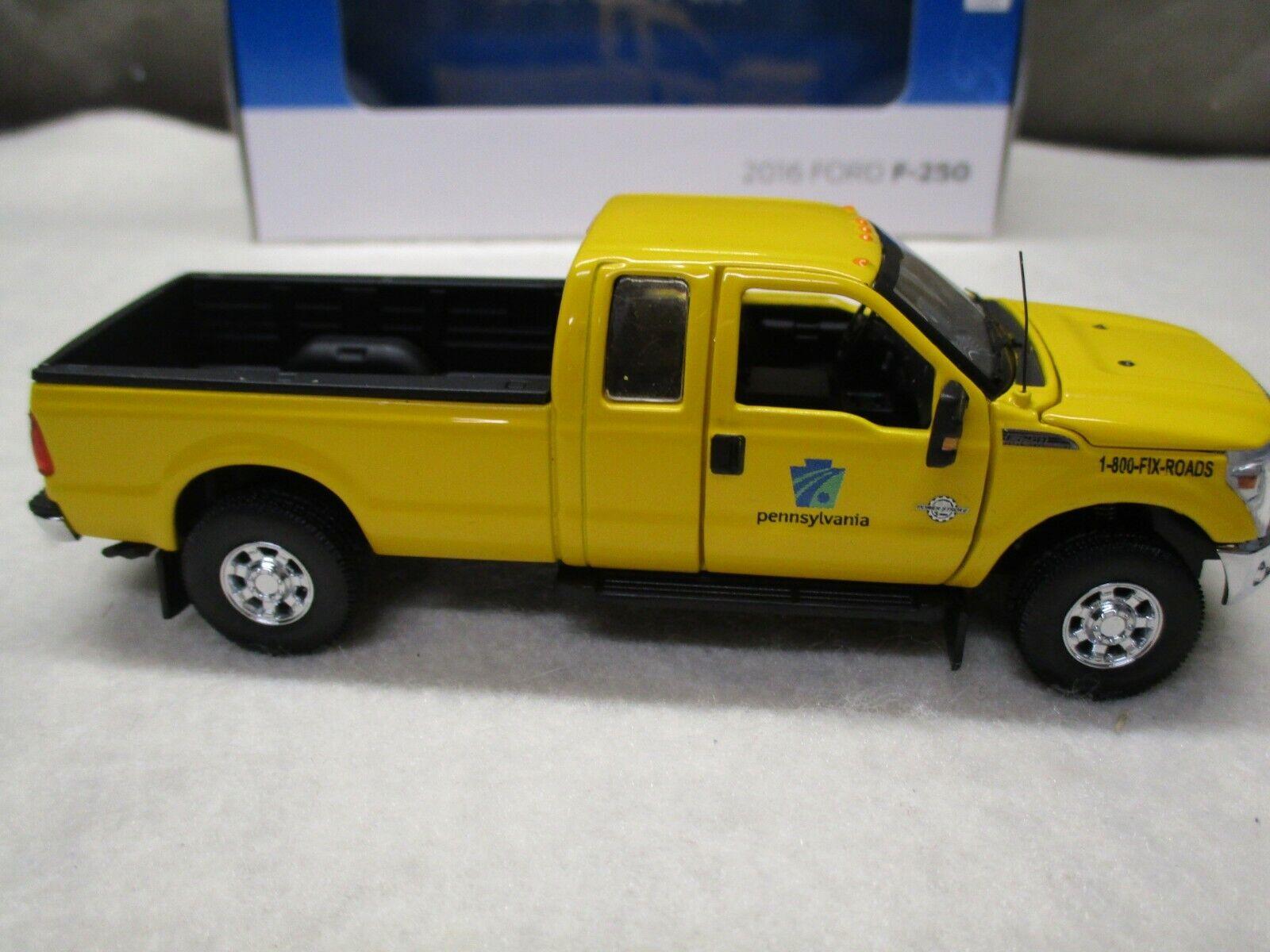 SWORD 2016 Ford F250 PennDot Gelb Pickup Truck Super Cab 8 ft bed 1 50 NIB