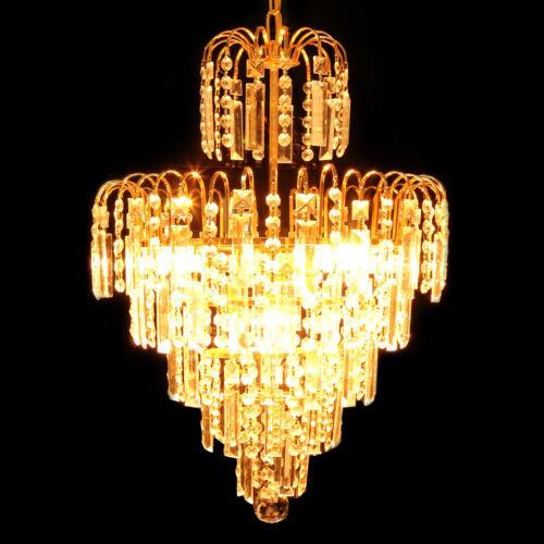 Ridgeyard Kristall Kronleuchter Deckenleuchten Licht Anhänger mit Gold Design