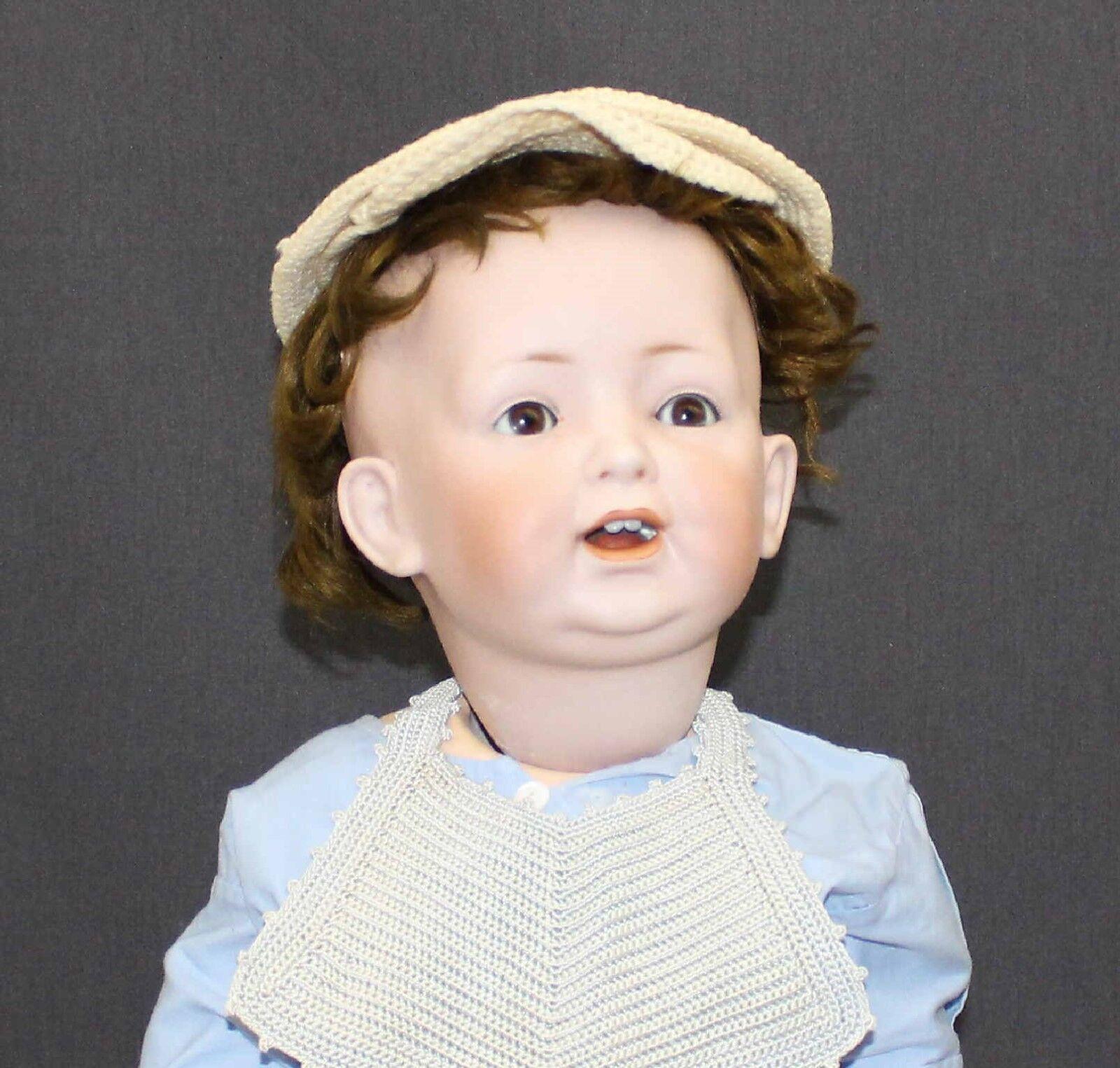 Muñeca Bebé Biscuit Alemán Antiguo por Kestner-Mold
