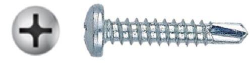 #8 Phillips Pan Head SD Screws Zinc 7 Length Options Bulk Box 3000-10000 Pcs