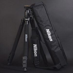 Genuine-Nikon-Mirrorless-D-SLR-SLR-RF-Camera-Tripod-63-034-w-Head-Plate-Case-Strap
