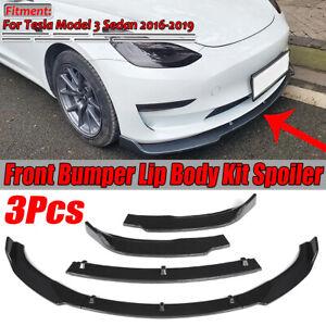 3PC-Carbon-Fiber-Look-Front-Bumper-Lip-Lower-Spoiler-For-Tesla-Model-3-4DR-16-19