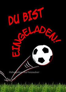 8 Einladungskarten Fussball Geburtstag Kinder Soccerhalle Einladungen