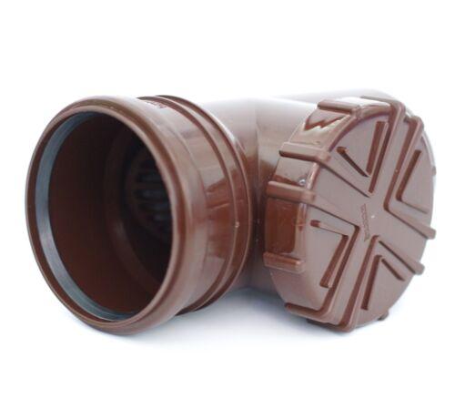 Tubo lluvia filtro marrón caso tubo filtro canalón laubfang kg//HT tubo dn100 ø110