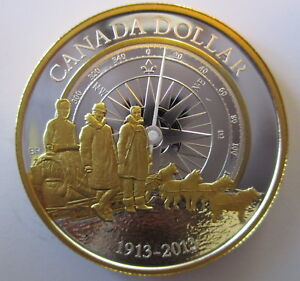 2013-CANADA-100th-ANN-OF-ARCTIC-EXPEDITION-PROOF-99-99-SILVER-DOLLAR-COIN