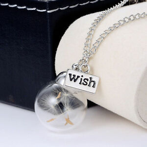 Women-Fashion-Real-Dandelion-Seeds-Lucky-Glass-Wishing-Bottle-Pendant-Necklace