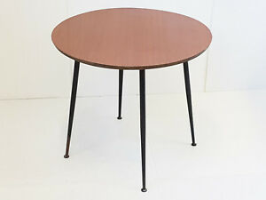 Image Is Loading Coffee Table Round To Ont Formica Amp Steel