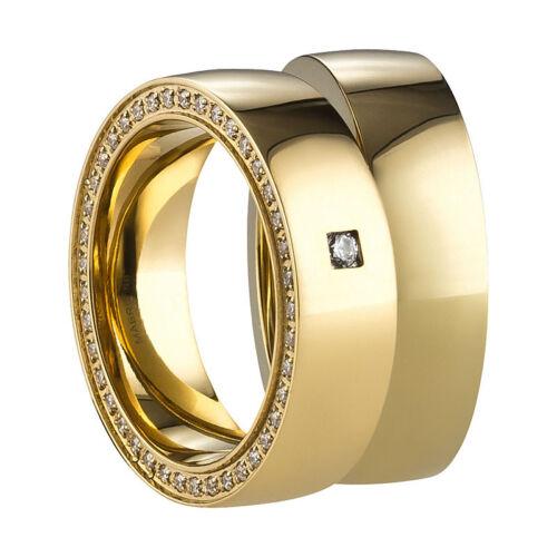 Gravur Ring Freundschaftsringe Partnerringe Verlobungsringe Edelstahl Gold