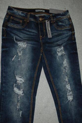 5 Jeans Bleu Hege Distressed Curvy Jr Skinny Doux Extensible Faded 6 Femmes 745121954244 a6wxwqfnzp