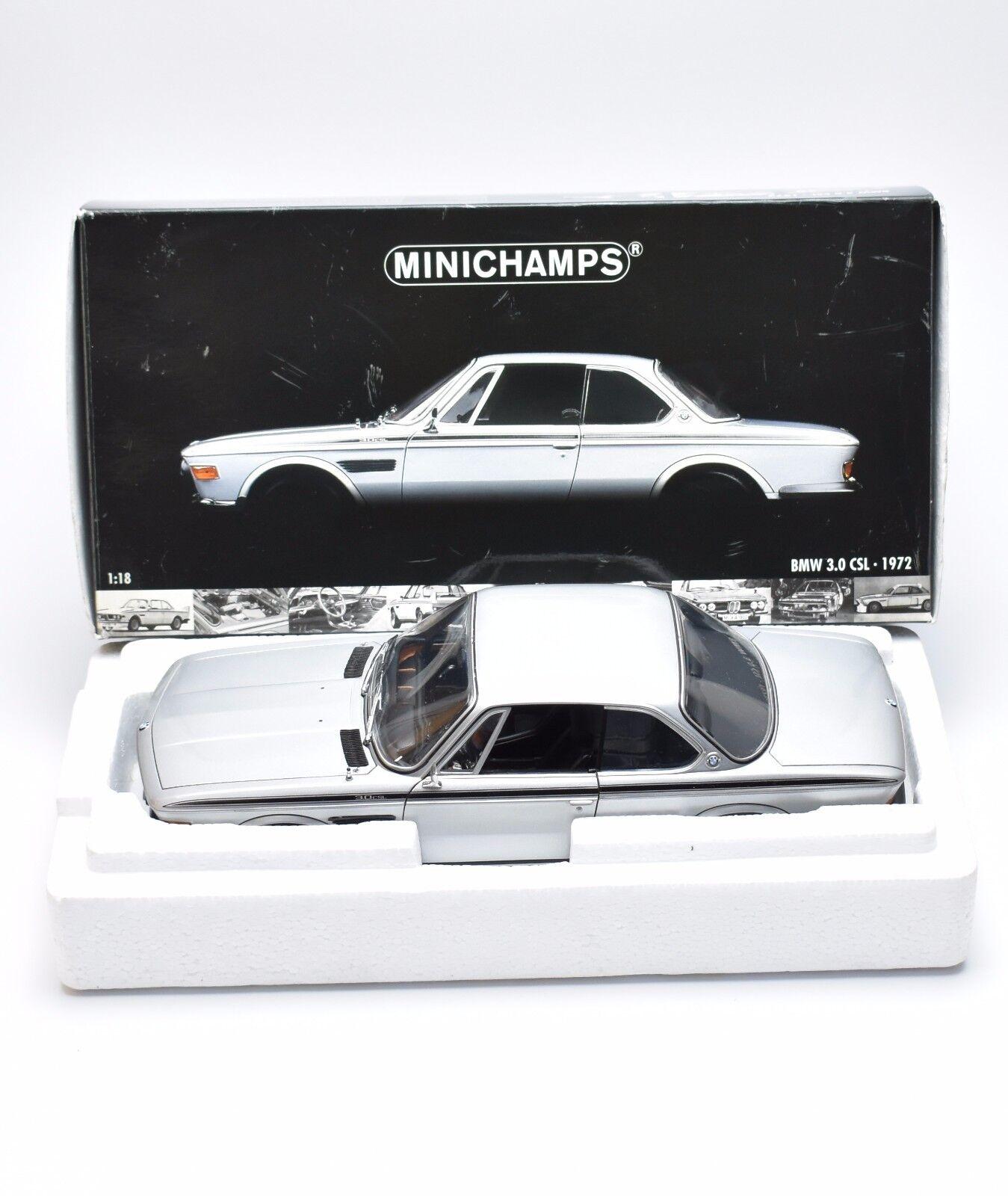 mejor oferta Minichamps 180029020 bmw bmw bmw 3.0 CSL año 1972 en plata lacados, 1 18, embalaje original, k025  Nuevos productos de artículos novedosos.