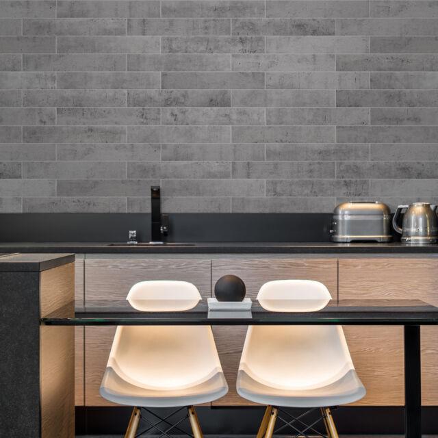 Smart Tiles Norway Voss Concrete Stone Peel and Stick Backsplash Tile  Farmhouse