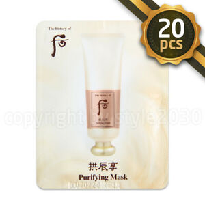 The-history-of-Whoo-Purifying-Mask-4ml-x-20pcs-Exfoliating-Mask-EXP-2022