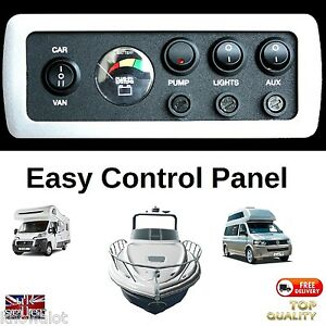 Camper-Control-Panel-with-12v-Battery-Condition-Monitor-Fused-SELF-BUILD-12-Volt