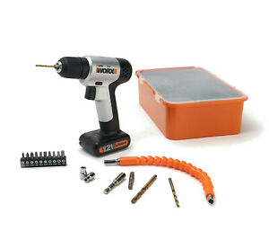 WORX WX104L 12V 2-in-1 Dual Function Drill & Driver with Boxed Project Kit