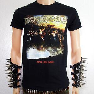 Official Bathory Blood Fire Death Unisex T-Shirt Hammerheart Blood On Ice