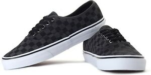 Details about Vans Authentic Checkerboard Suede, Dark Shadow, Black/Grey- Kids/Youth