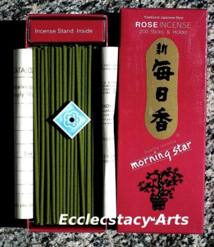 tile Incense Burner Nippon Kodo Morning Star ROSE Incense 200 Japanese Sticks