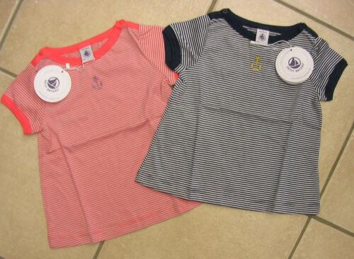 marine oder orange von Petit Bateau NEU! T-Shirt mit 1//2 Arm
