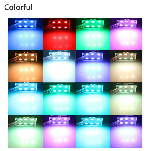 8in1 DC12V RGB 72LED Car LED Rock Lights Under Body Atmosphere Decor Lamp+Remote
