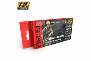 AK Interactive AK3040 SPLITTERMUSTER UNIFORM COLORS 6x17ml