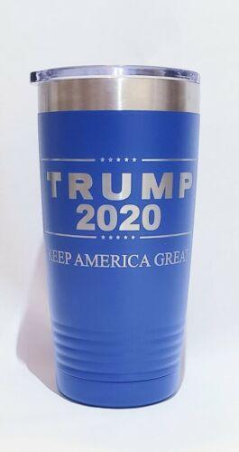 environ 566.98 g Tumbler-Trump 2020 Keep America Great-Gravée sur les deux côtés Bleu 20 oz