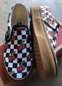 a5cad4bcf37 Vans Classic Slip On Cherry Checker Black Gum Sz Mens 3.5   Women s ...