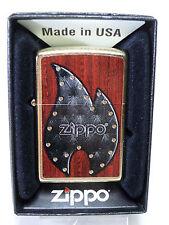 """Zippo """"PELLE FLAME"""" - nuovo & confezione originale - #602"""