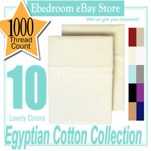 2 x IVORY 1000TC 100% PURE SOFT COTTON TAILOR PILLOWCASES RRP$122