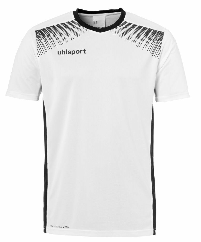 Uhlsport Mens Sports Football Training Short Sleeve Shirt Top Jersey White ...