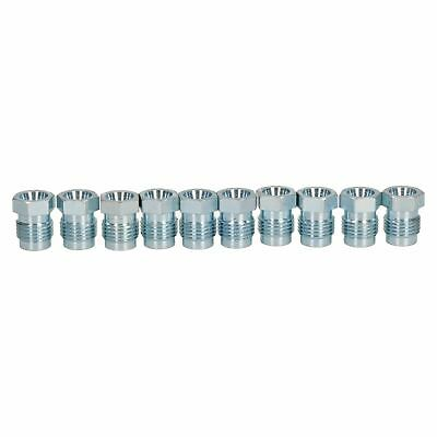 """10pc Steel Male Brake Pipe Union Long Fittings 1//2/"""" x 20 UNF for 5//16/"""" Brakes"""