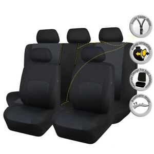 Universal-Car-Seat-Covers-Protectors-Washable-Breathable-Black-Toyota-SUV-Truck