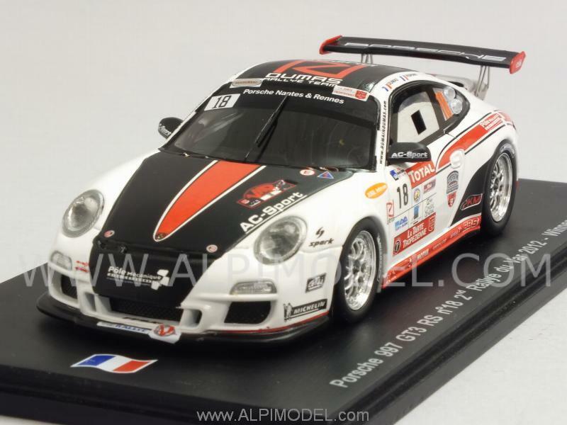 Porsche 911 gt3 rs 997 WINNER GT Class RALLY DU VAR 2012 du 1 43 spark sf052