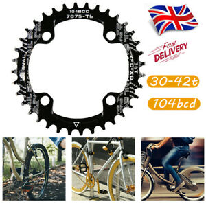 UK-30-42t-104bcd-MTB-Road-Bike-Narrow-Wide-Single-Chainring-Chainset-Sprockets