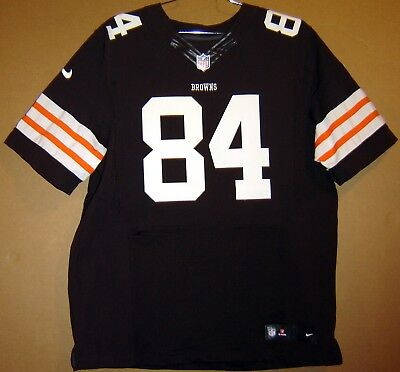 CLEVELAND BROWNS #84 JORDAN CAMERON AUTHENTIC BROWN NFL Nike Size 52 JERSEY | eBay