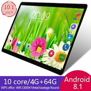 Android 8.1 Tablet PC 4GB + 64GB con 10 núcleos WIFI Phablet 13.0MP Cámara 10.1""