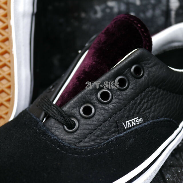 5cc6301f1e Buy VANS Era 59 Velvet Black red Men s Classic Skate Shoes Size 11 ...