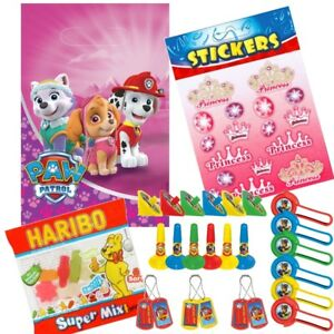 Details Zu Paw Patrol Pink Skye Party Loot Bag Kits Sweets Favours Stickers Sheet