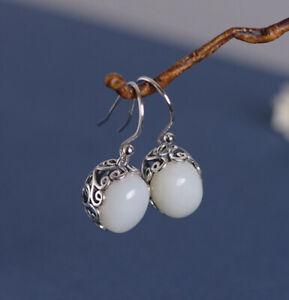 I05-Ohrring-weisse-Jade-oval-in-Korb-aus-Sterling-Silber-925-mit-Rankenornament