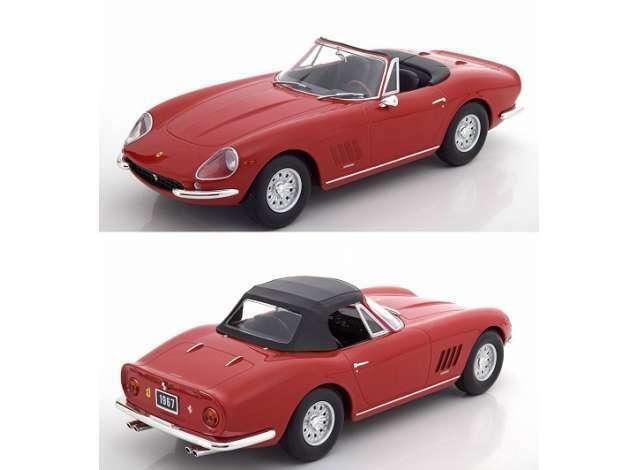 Ferrari 275 gts 4 nart spyder alloy wheels 1967 red 1 18 kk scale model