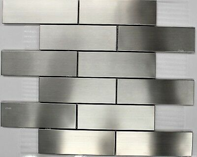 Sub Way Stainless Steel Subway Metal Mosaic Tiles