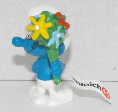 Smurf with Bouquet Plastic Figurine 20798 FROM OCCASIONS SMURF SET