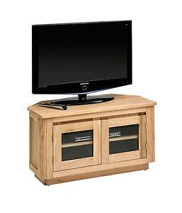 Newham Solid Oak Corner Tv Unit Oak Tv Cabinet Light Oak Tv